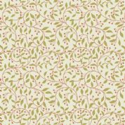 Lewis & Irene Cheiveley - 5632  - Gold & Copper Vine on Cream (Metallic) - A243.1 - Cotton Fabric